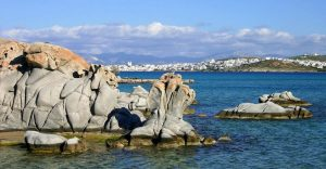 Image of Kolimbithres Beach on Paros Greece