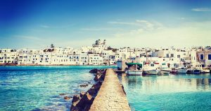 Photo of Naoussa on Paros Greece.